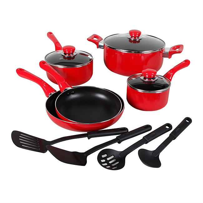 Everton 12-piece Red Cookware Set