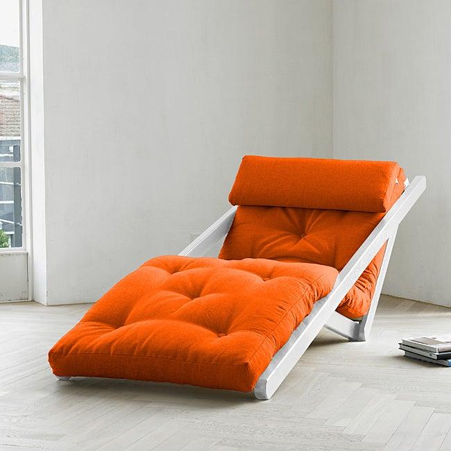 Figo Orange Fresh Futon Sleeper Lounger Free Shipping