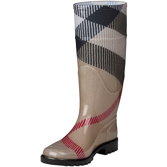 Burberry 3464688 Exploded Check Rubber Rain Boots