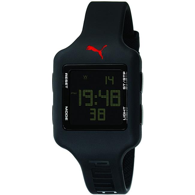 Puma Unisex Black Slide Strap Digital Watch