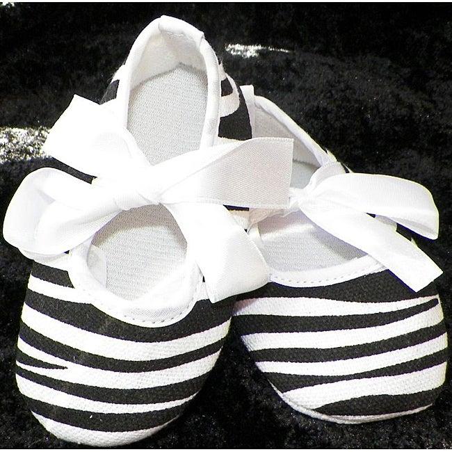 Just Girls Zebra Baby Crib Shoes