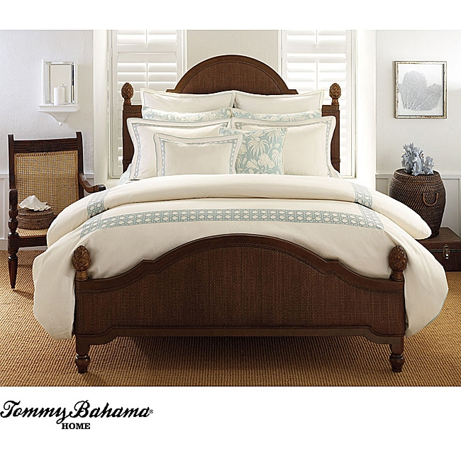 Tommy Bahama 'Cane' Embroidered Queen-size Duvet Cover
