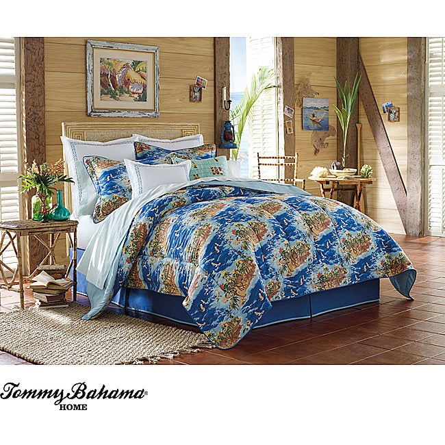 Tommy Bahama 'Fiji Coast' 4-piece Queen-size Comforter Set