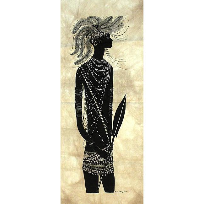 Heidi Lange 'Young Turkana Dancer' Screen Print (Kenya)
