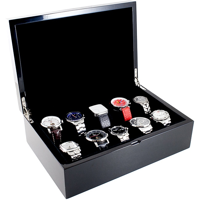 Gloss Black Solid Top 10-Watch Case