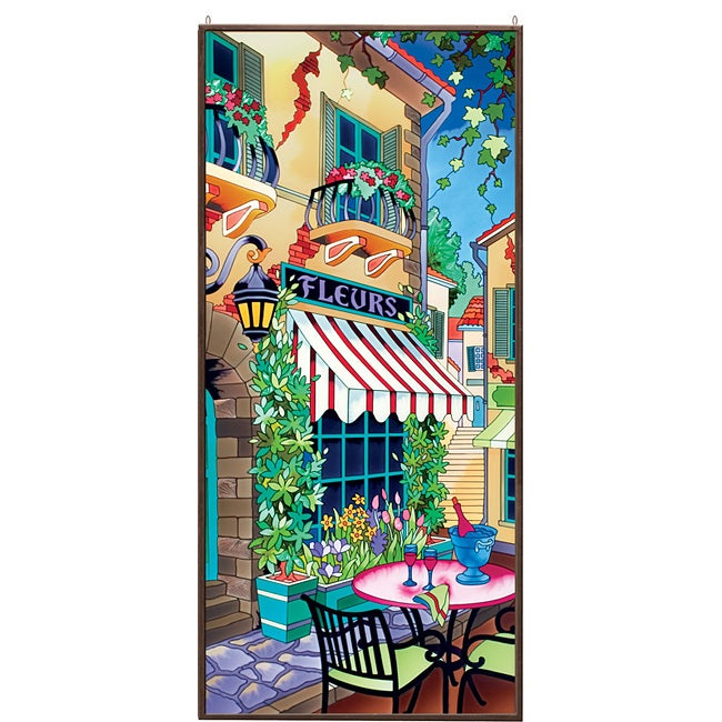 Joan Baker Hand-painted French Cafe Art Panel