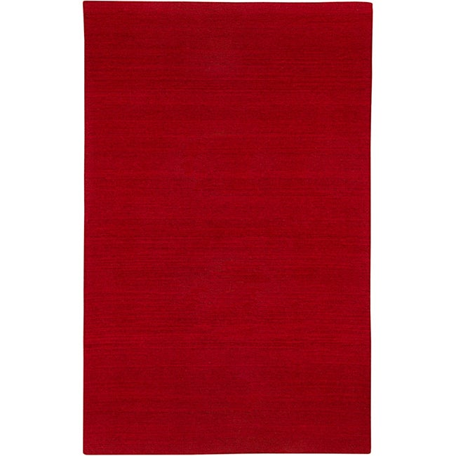 Hand-tufted Sovereignty Solid Red Rug - 8' x 10'
