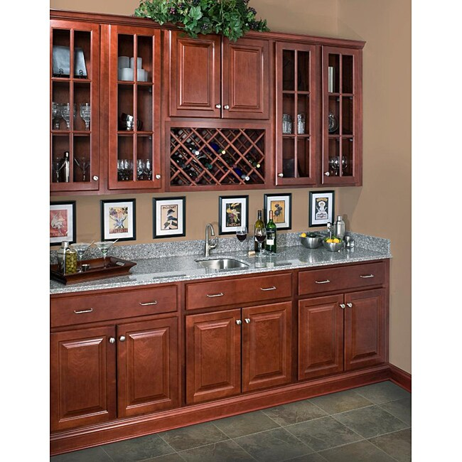 Rich Cherry Wall Microwave 30-inch Cabinet