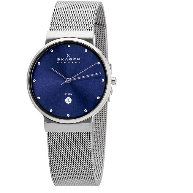 Skagen Men's Mesh Blue Dial Watch