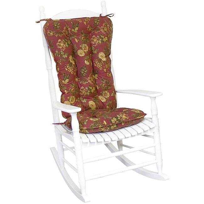 Cotton Antique Red Floral Jumbo 2 Piece Rocking Chair