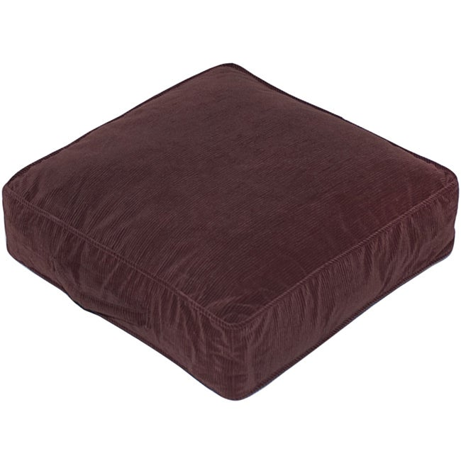 Merlot Microfiber 20-inch Square Floor Pillow