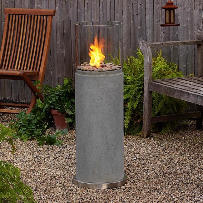 Real Flame Modesto 39 Inch Concrete Fire Column Free
