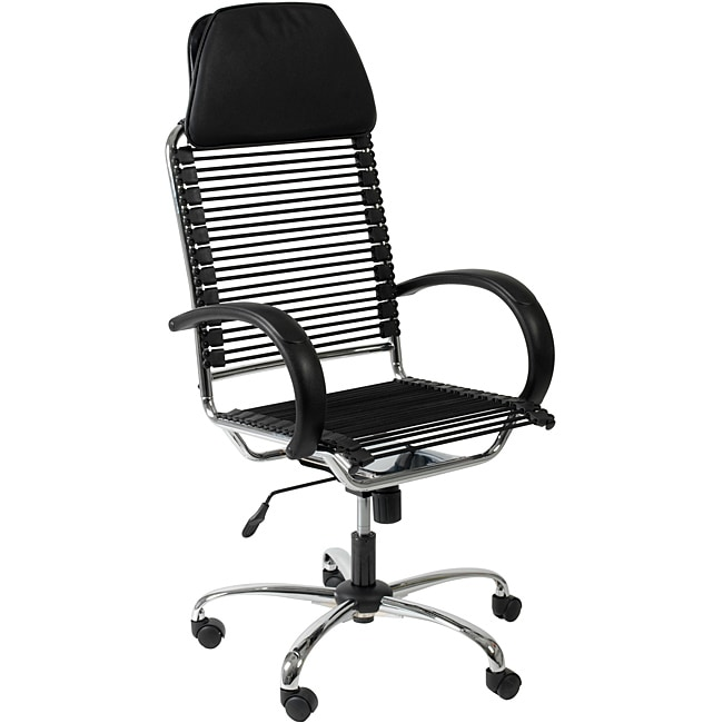 Bungie Executive High Back Black/ Chrome Office Chair