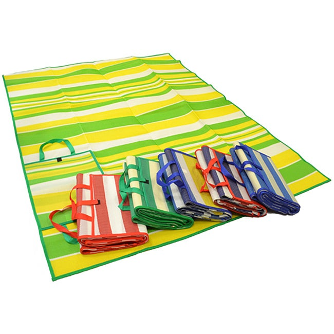 Foldable Green Wide Striped Travel Mat