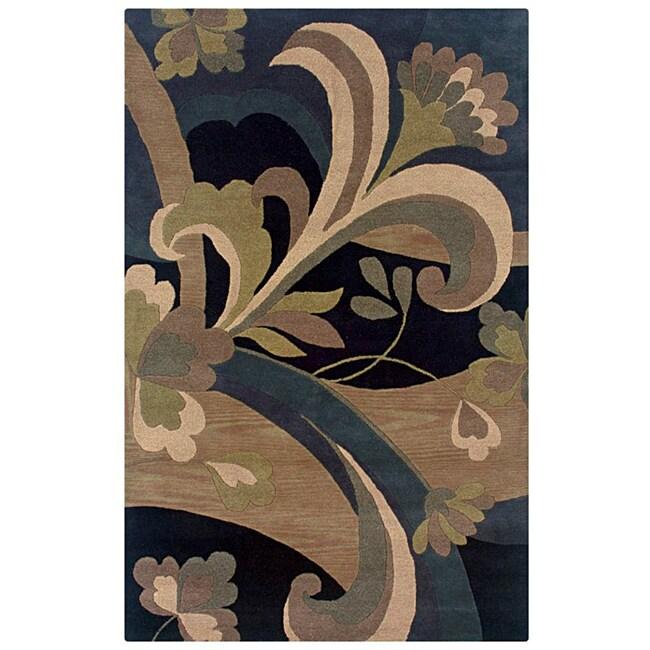 Hand-tufted Hesiod Black Rug (9' x 12')