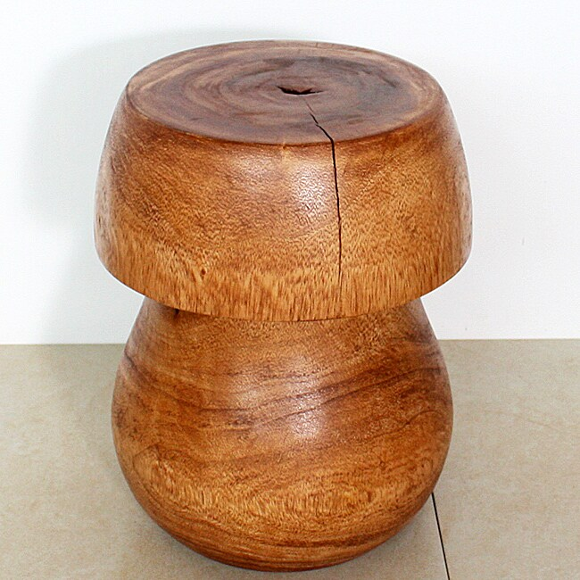 Wooden Light Teak Mushroom End Table (Thailand)