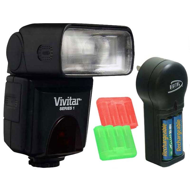 Vivitar DF-383-CAN AF Power Zoom Flash Kit for Canon Cameras
