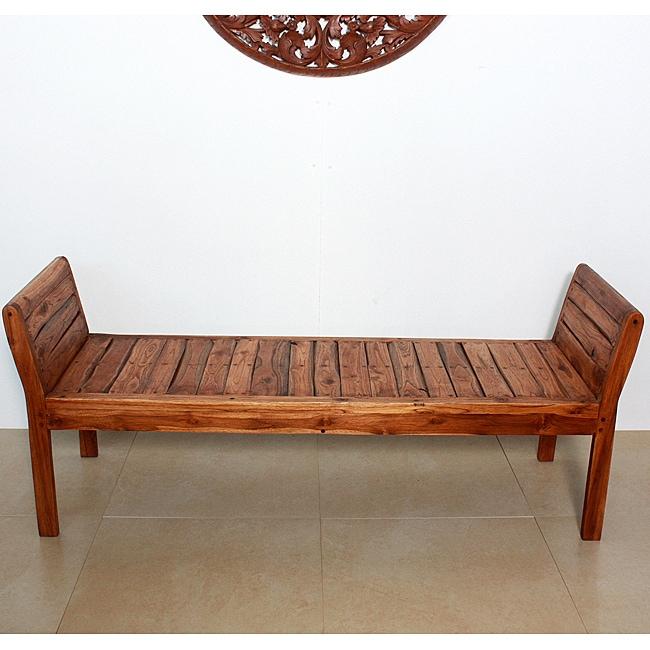 Teak Inlay Recliner Bench (Thailand)
