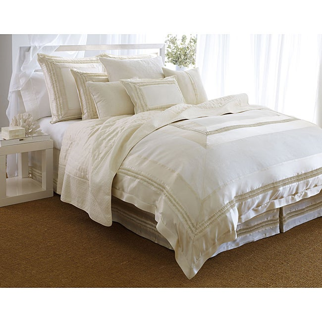 L Erba Serene 3 Piece Queen Size Duvet Cover Set Free