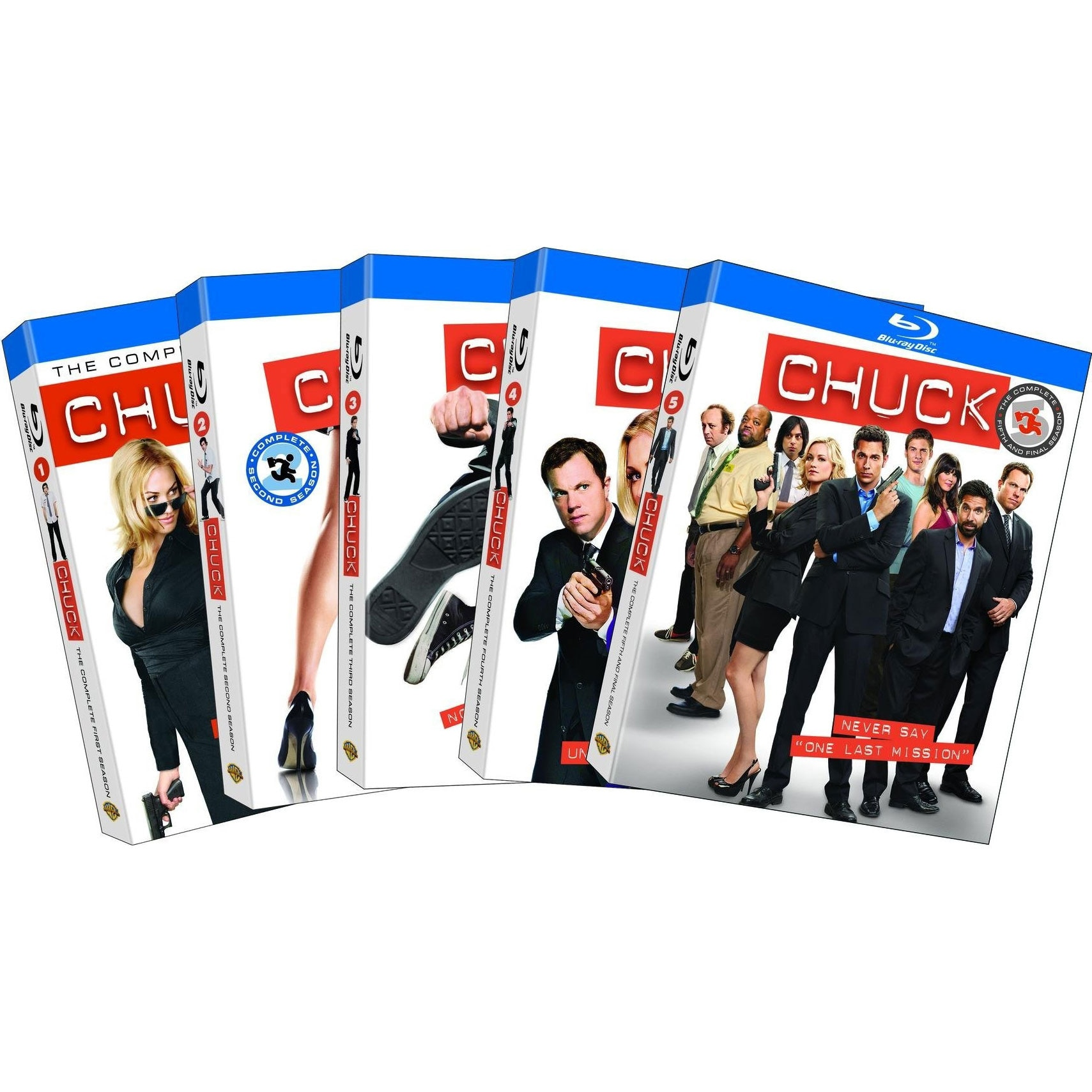 Chuck: Seasons 1-5 (The Complete Series) (Blu-ray Disc)