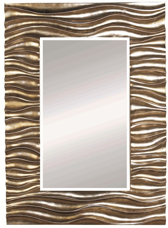 Eclectic Antique Gold and Silver Leaf Mirror