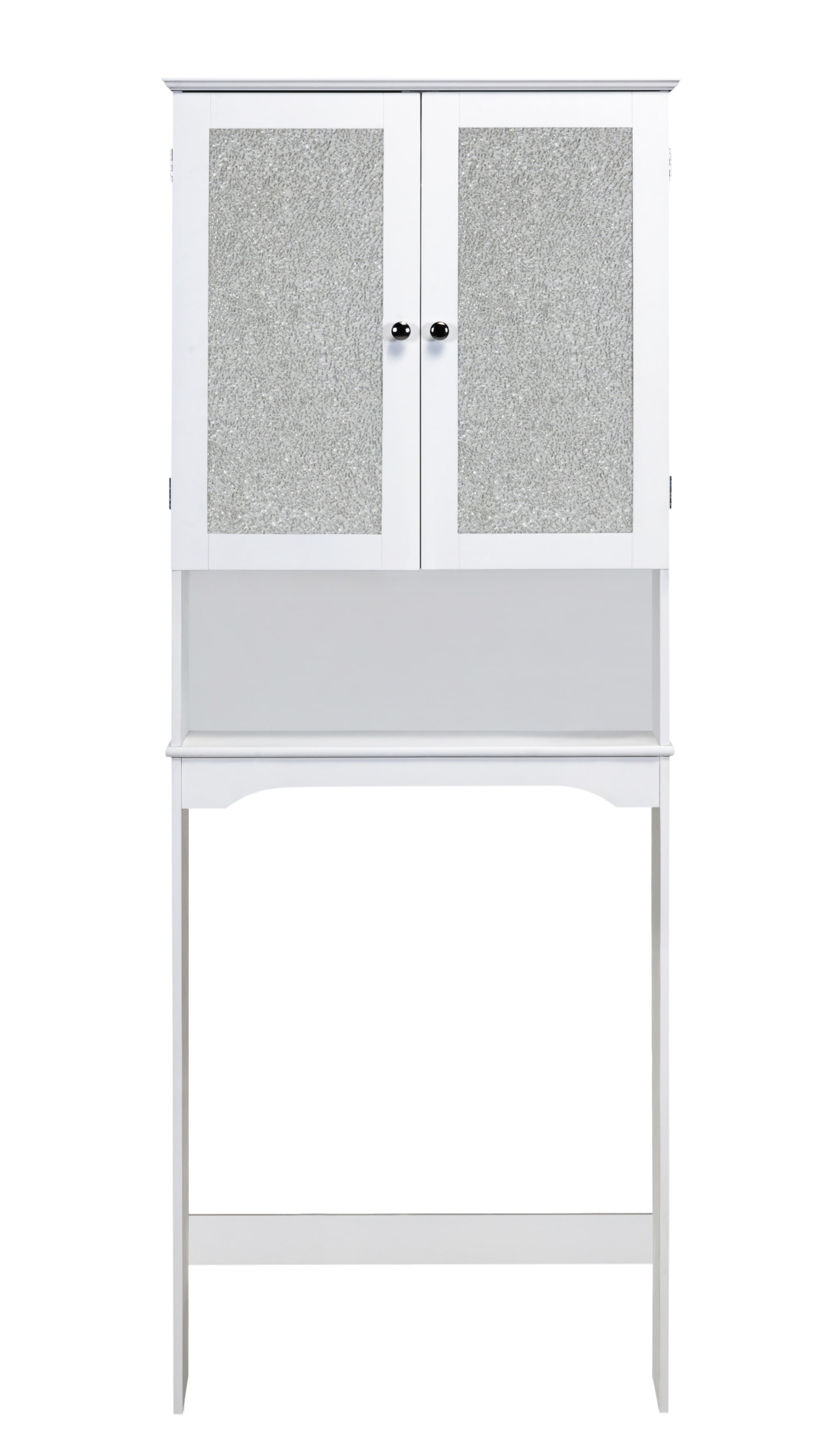 Fifth Avenue Mosaic Glass Doors Space Saver  Cabinet