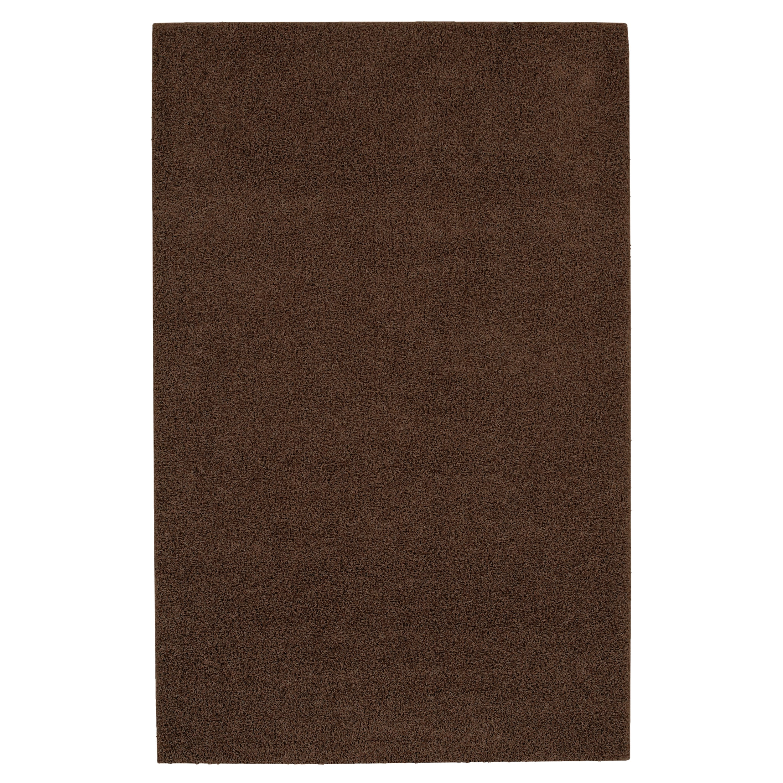 Solid Shag Brown Rug (5' x 8') - Thumbnail 0