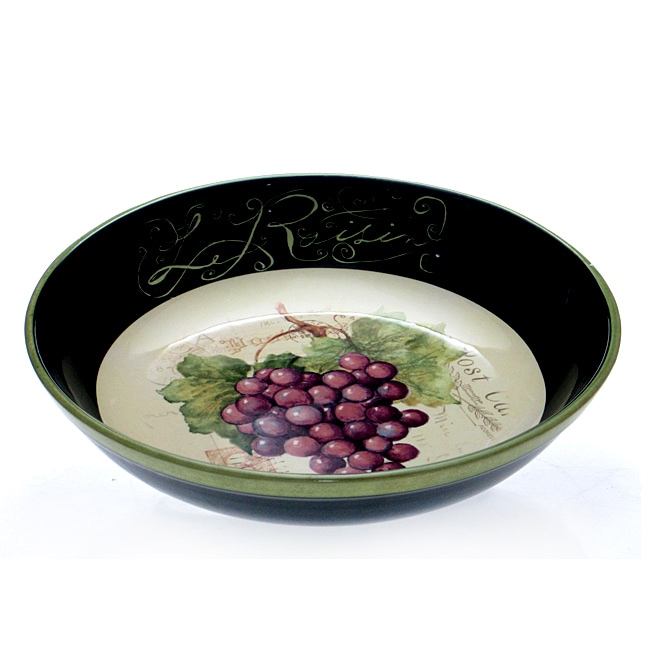 Certified International 'Parisian Fruit' 13.25-inch Serving Bowl