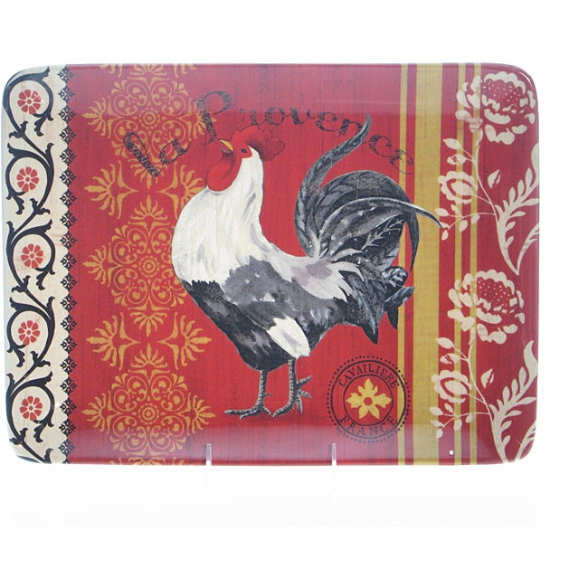 Certified International La Provence Rooster Rectangular Platter