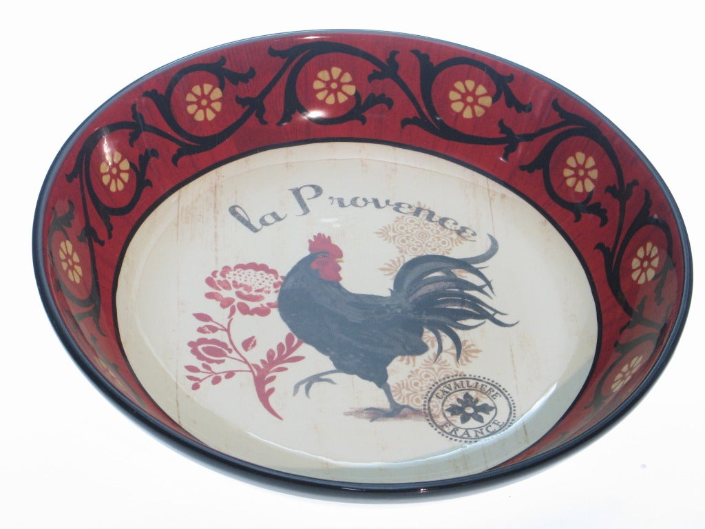 Certified International 'La Provence Rooster' 13-inch Serving Bowl