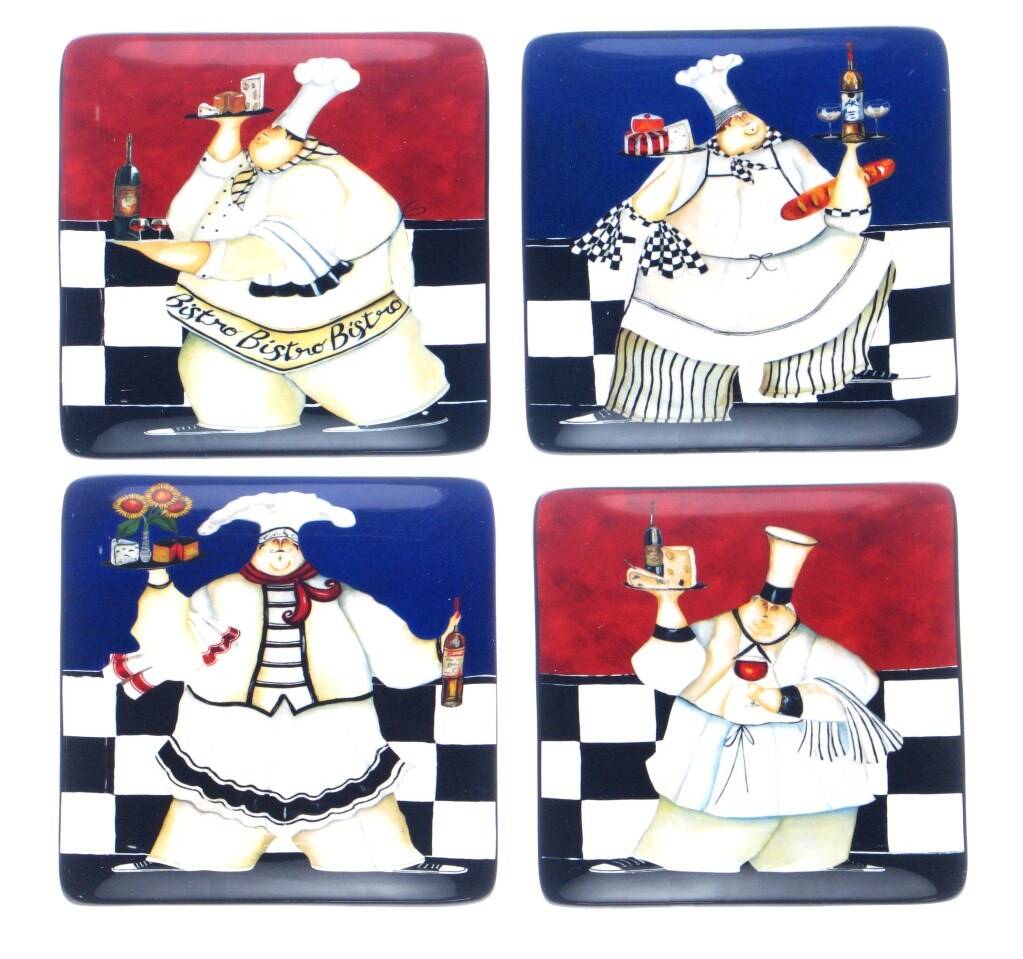 Certified International Chef de Cuisine Dessert Plates (Set of 4)