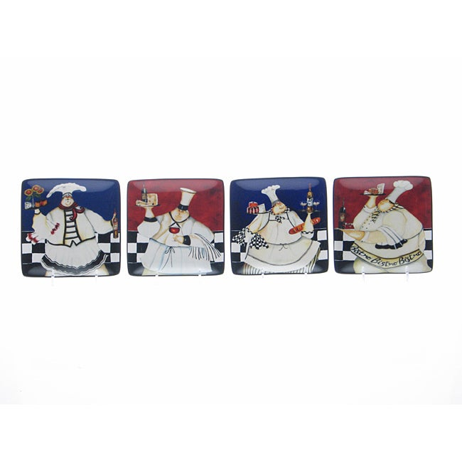 Certified International Chef de Cuisine Canape Plates (Set of 4)