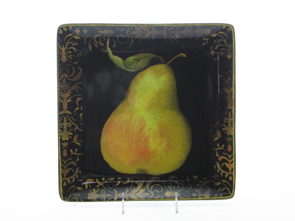 Certified International Fruit Filigree Square Platter