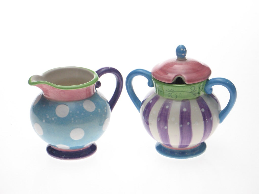 Certified International Cupcake Sugar & Creamer Set - Thumbnail 0