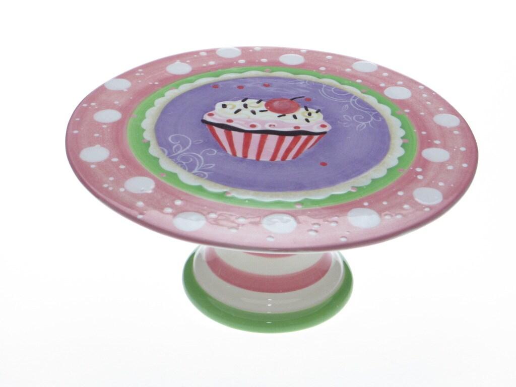 Certified International Cupcake 10-inch Pedestal Cake Plate
