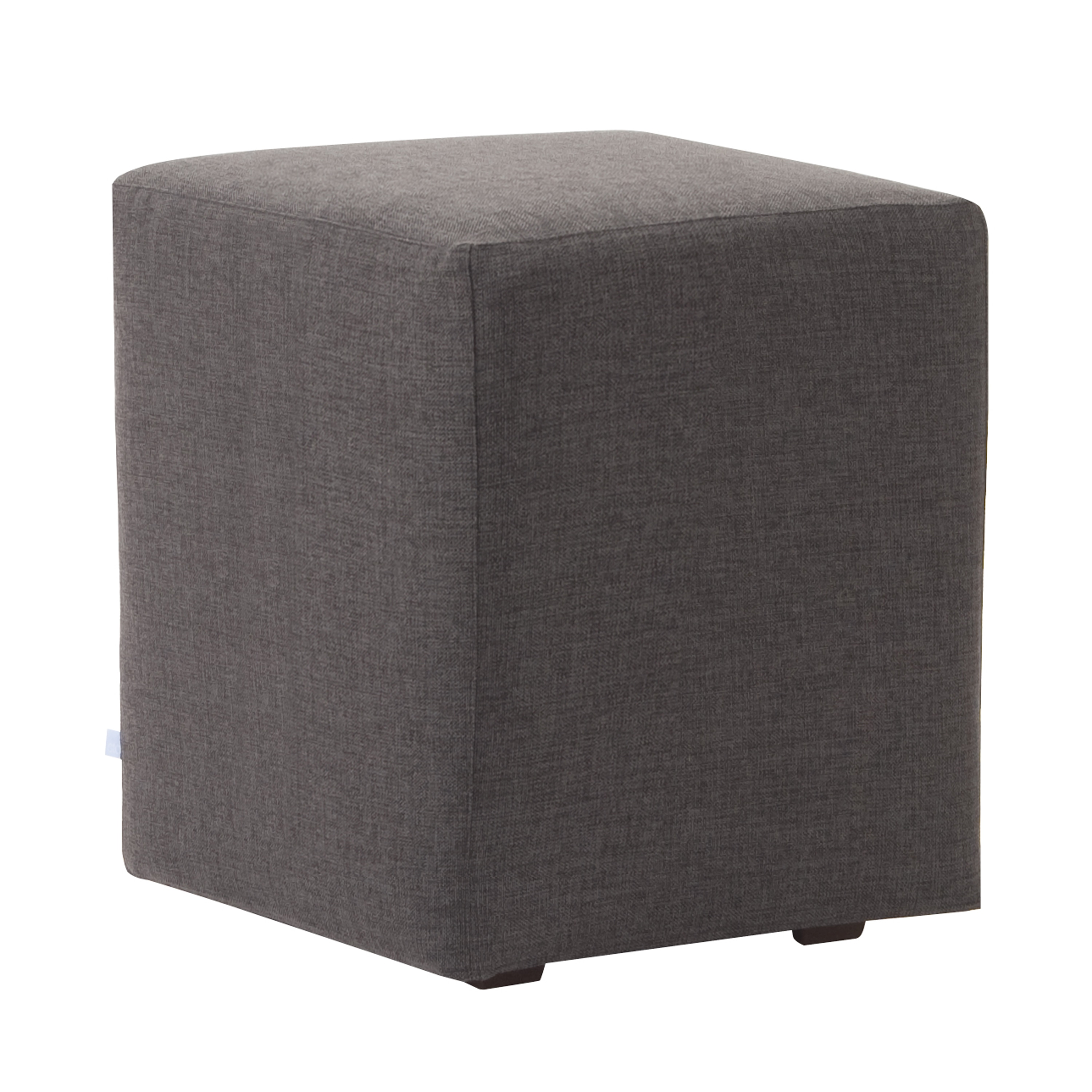 Graphite Slip Covered Cube Seat - Thumbnail 0