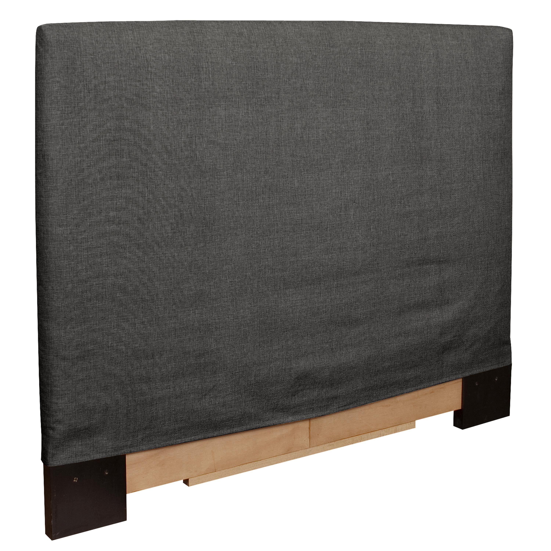 Full/ Queen-size Grey Slip Covered Headboard