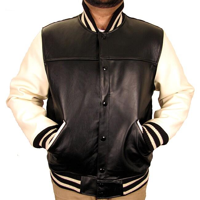 Hudson Outerwear Men's Leather Varsity Jacket