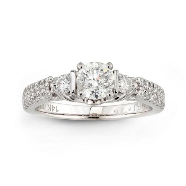 14k White Gold 1ct TDW Round Diamond Engagement Ring (H-I, I1-I2)