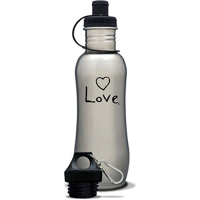 AffirmWater 32-oz 'I am Love' Stainless Steel Water Bottle
