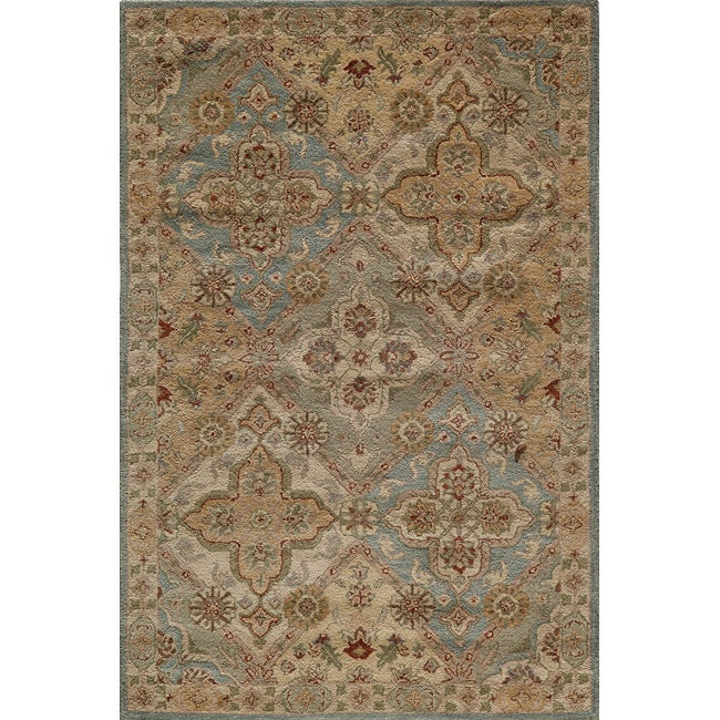 Hand-tufted Goa Multi Wool Rug (5' x 7'9)