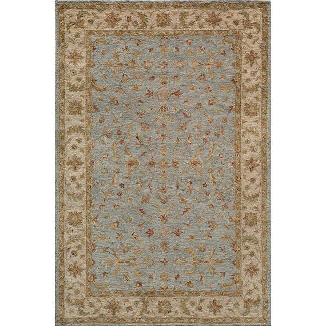 Hand-tufted Goa Blue Wool Rug (8' x 10')