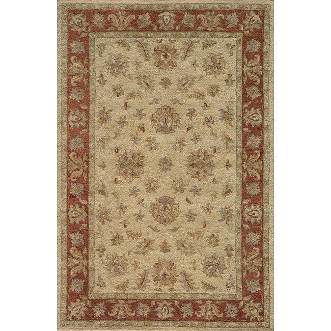 Hand-tufted Goa Gold Wool Rug (5' x 7'9)