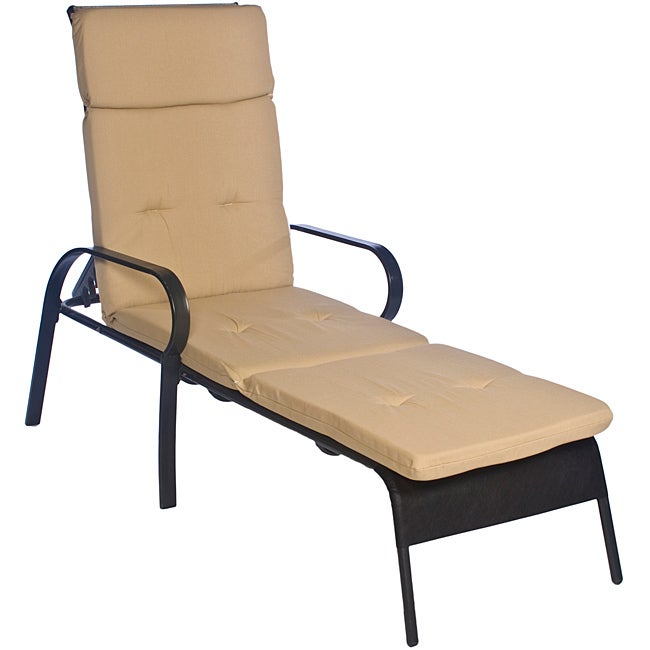 Ali Patio Outdoor Beige Chaise Lounge Cushion