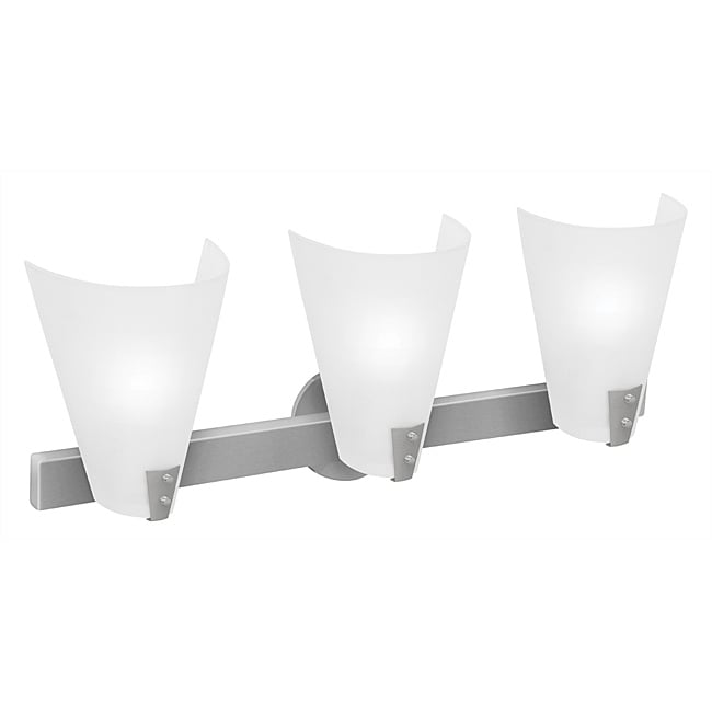 Vapor Brushed Steel Finish 3-light Wall Sconce