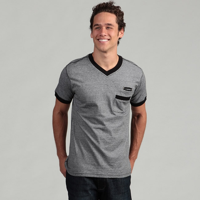Burnside Men's Black V-neck Tee - Thumbnail 0