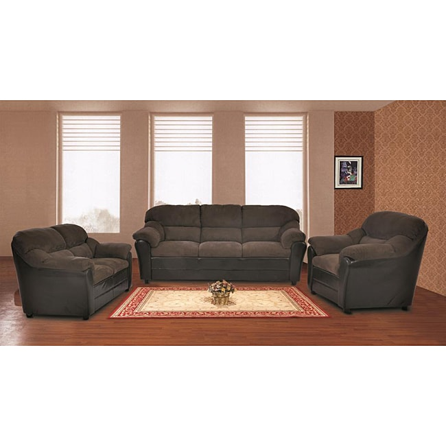 Playa Sage Microfiber Sofa And Loveseat Set