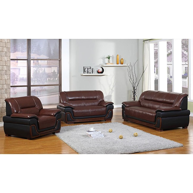 Madison Geniune Leather Sofa Set