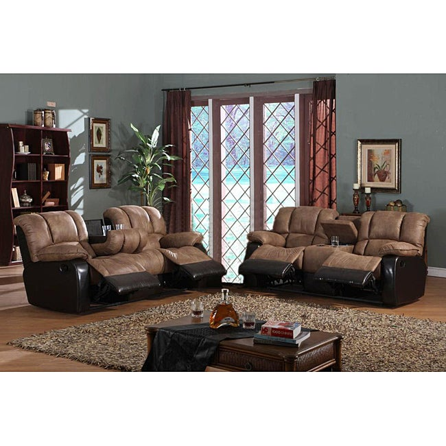 Mission Reclining Sofa and Loveseat Set
