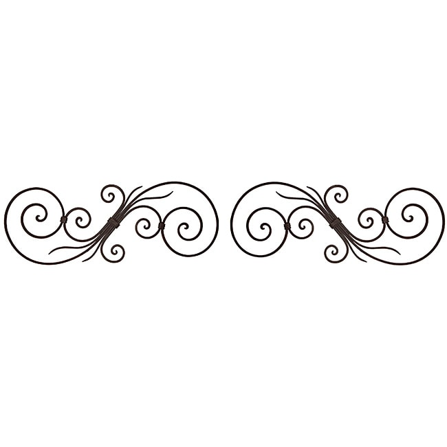 Ornate scroll wall decor set of 2 free shipping on for Decorative scrollwork